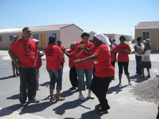 (12) Toyi-Toying to celebrate a small victory in the struggle
