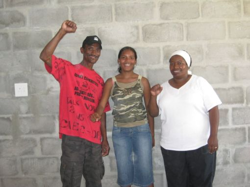 (10) Alfred Arnolds and his family in their new home