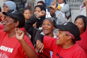 Symphony Way residents celebrate at the High Court
